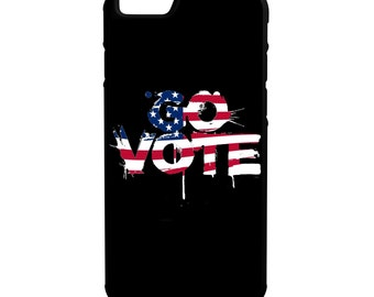Go Vote American Flag iPhone Galaxy Note LG HTC Hybrid Rubber Protective Case