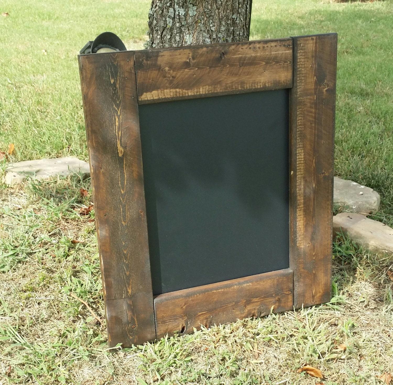 Rustic chalkboard 21 x 18 menu board reclaimed wood for Recycled wood board