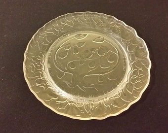 Vintage Imperial Glass Twelve Days of Christmas, Plate one, 1970