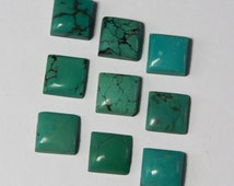 5 Pcs. Exclusive Lot Of Natural Turquoise 17x17 MM Square Cabochon For Jewelry