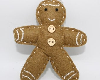Felt Gingerbread Man Decoration