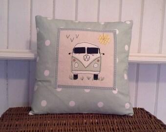 VW Camper Cushion. Pale Green.
