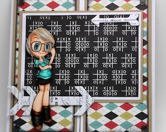 Geeky girl card