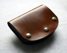Minimalist Leather Belt Pouch - Elegance - Best Quality Chrome Free Spanish Calf Leather, 100% hand made, fair trade!