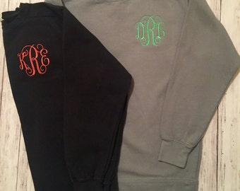 CLEARANCE! Monogrammed Comfort Colors Sweatshirt