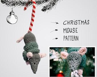 Sugar Cane Mouse - Christmas Ornament Crochet Pattern