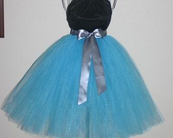 Aqua Tutu Skirt, Aqua Bridesmaid Tutu, Aqua Junior Bridesmaid Tutu, Light Blue Tutu Skirt