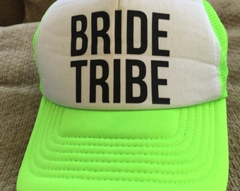 Bride Tribe Neon Green Tricker Hat
