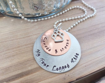 Hand Stamped Dog Necklace Personalized