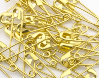 23mm Gold Safety Pins 40pcs  70301002
