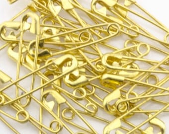 "19mm (3/4"")  Gold Safety Pins 50pcs  70301001"
