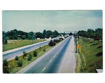 St Catharines Ontario Canada vintage postcard | Queen Elizabeth Way, Canadian highway | 1960s travel postcard