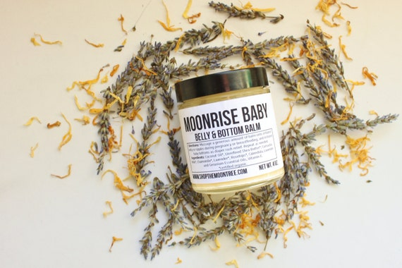 MOONRISE BABY // Handmade // All Natural // Vegan // Lavender // Diaper // Belly // Nipple Balm