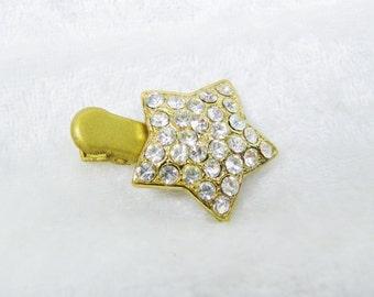 Gold Crystal Star Small Hair Clip,  'My Teeny Tiny Hair Clips'