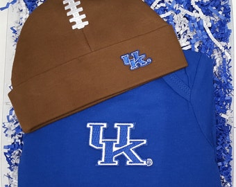 Kentucky Wildcat Baby Bodysuit & Football Cap Gift Set