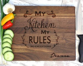Personalized Cutting Board - My Kitchen My Rules