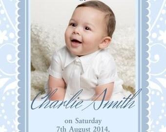 Downloadable Personalised/Customised Christening/Baptism/Naming Invitations  printable, digital