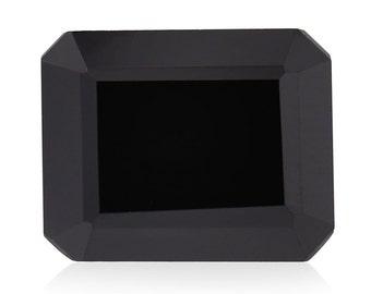 Thai Black Spinel Octagon Cut Loose Gemstone 1A Quality 10x8mm TGW 3.45 cts.