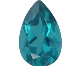 Capri Blue Quartz Triplet Loose Gemstone Pear Cut 1A Quality 14x9mm TGW 5.20 cts.