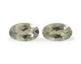 Green Tanzanite Loose Gemstone Oval Cut Set of 2 1A Quality 5x3mm TGW 0.40 cts.