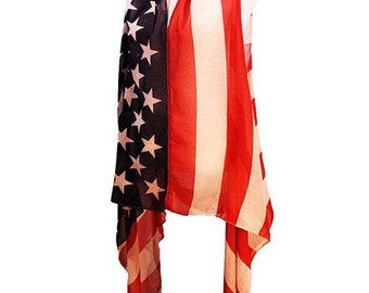 USA American Flag Beach Shawl