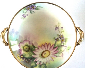SUMMER CLEARANCE Beautiful Noritake Morimura Brothers Hand Painted Pedestal Bowl.