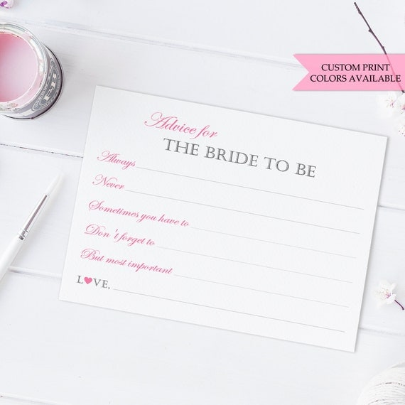 to be advice cards bridal shower mad libs wedding shower advice