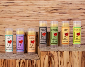 Organic Lip Balm Gift Set // You Choose 3 (New! Vanilla Chai in stock!)