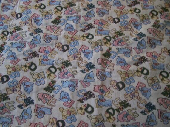 Baby nursery upholstery fabric heavy tapestry fabric a b c for Upholstery fabric children