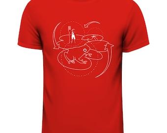 T-Shirt circle, Red