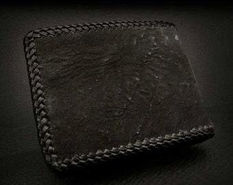 Shark Skin Leather BiFold Wallet / K03B04