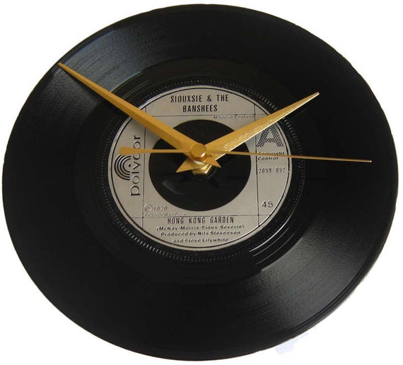Siouxsie Amp The Banshees Vinyl Record Clock Hong Kong Garden