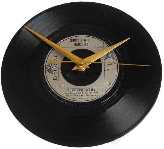 Siouxsie the banshees vinyl record clock hong kong garden - Siouxsie and the banshees hong kong garden ...