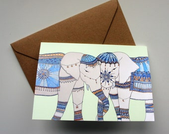 Elephants Love - wedding / engagement / anniversary greeting card