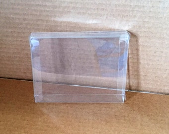 25 Clear Greeting Card Boxes, Greeting Card Protectors, Craft Supplies, Clear Boxes