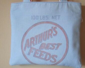 ARTHUR'S BEST FEEDS Feed Sack Bag in Blue