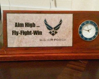 Military desktop clock.