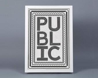 Public Bike Poster - SIGNED