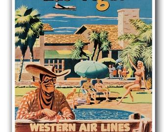 Las Vegas Art Print Travel Poster Vintage Home Decor (XR877)