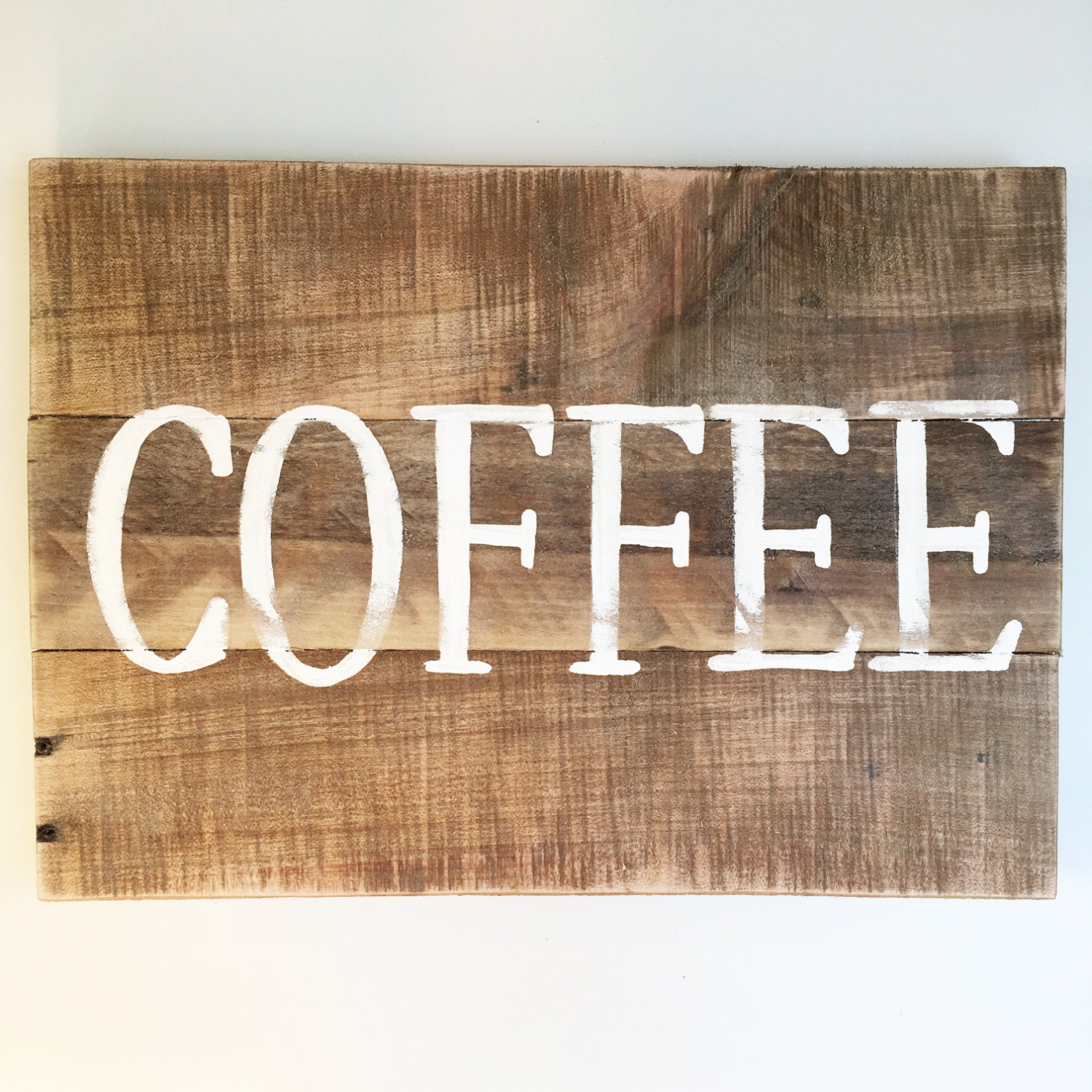 Reclaimed Wood Sign Coffee Sign Wood Wall Art Home Decor