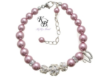 Flower Girl Bracelet, Personalized Flower Girl Gift, Kids Jewelry, Personalized Jewelry, Wedding Jewelry, Personalized Gift, Flowergirl Gift