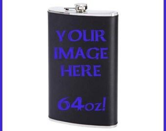 Custom JUMBO 64 oz. Flask!