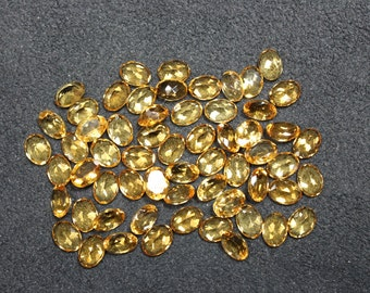 Natural CITRINE - Citrine Gemstone - 6x8mm  Citrine - Faceted Citrine Oval Shape - Exclusively Rarely Arrival Citrine