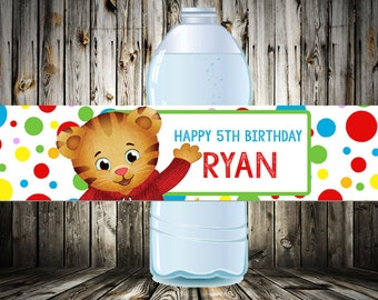 Daniel Tiger Water Bottle Wrappers - Labels