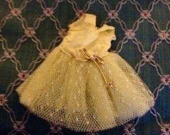 Vintage Small Fancy Doll Dress
