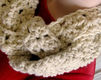 Chunky Braided Crochet Scarf Cowl