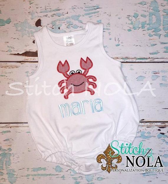 Crab Shirt, Gown, Bodysuit, Romper or Bubble