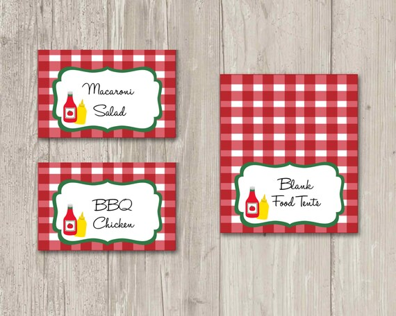 BBQ Food tents Food labels Picnic Place Cards | Printable from ThePaperVioletShoppe on Etsy Studio  sc 1 st  Etsy Studio & BBQ Food tents Food labels Picnic Place Cards | Printable from ...