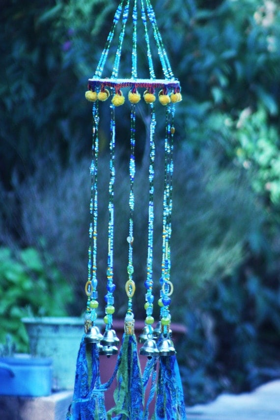 wind chimes wedding gift turquoise wind chime unique wind. Black Bedroom Furniture Sets. Home Design Ideas
