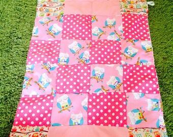 Baby Blanket minky blanket newborn blanket patchwork blanket personalised blanket babies gift set